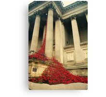Poppies at St Georges Hall Canvas Print