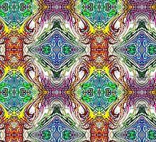 Neon Pinstripes 1 C by Karl Jacobson