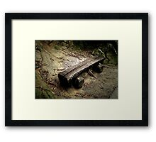 Bench on a Mountain Framed Print