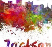 Jackson skyline in watercolor Sticker