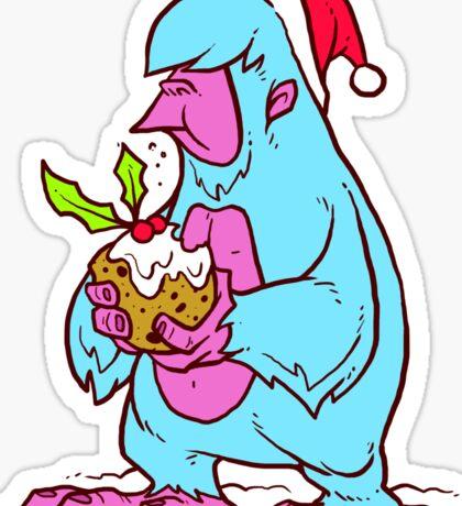 Xmas Yeti Sticker