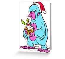 Xmas Yeti Greeting Card