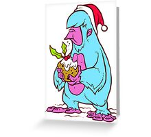 Xmas Yeti Greeting Card