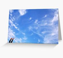 Playtime With God's Sky Greeting Card