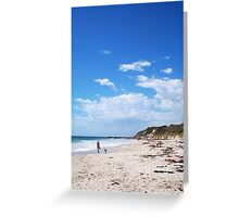 The Beach Walker Greeting Card