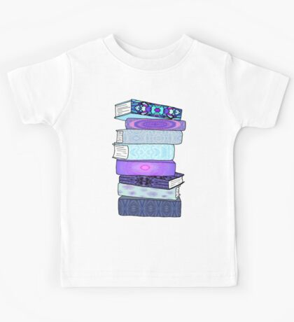 Stack of Blue Books Kids Tee