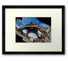 Eiffel Tower Stitched Framed Print