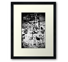 In the middle of all this mess Framed Print