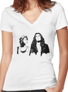Touch Me, I'm Dick Women's Fitted V-Neck T-Shirt