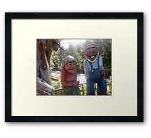 Norway trolls Framed Print