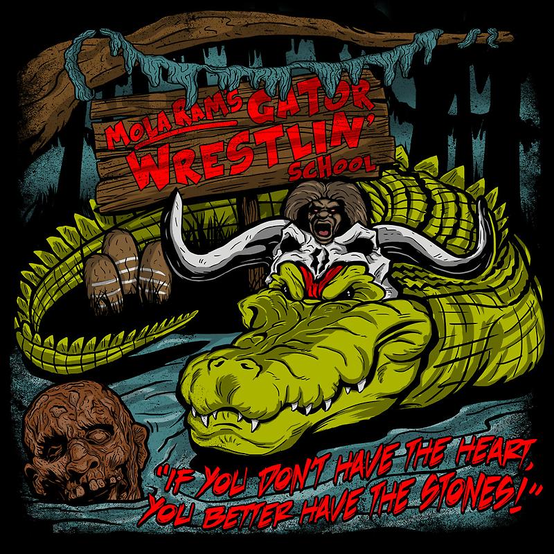 Mola Ram's Gator Wrestlin' School by popnerd