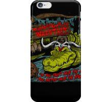 Mola Ram's Gator Wrestlin' School iPhone Case/Skin
