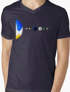 Sports Galaxy Mens V-Neck T-Shirt