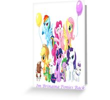 Bringing Pony's Back Greeting Card