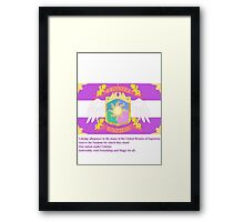 Brony Pledge of Allegiance Framed Print