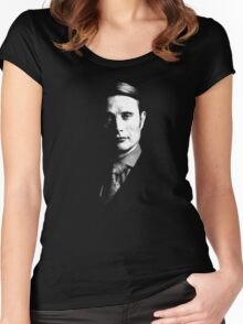Just Hannibal's Face. Women's Fitted Scoop T-Shirt