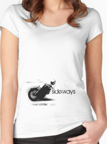 flat track - sideways Women's Fitted Scoop T-Shirt