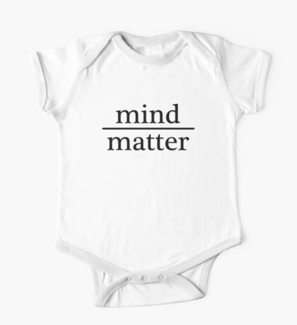 Mind over Matter - WHITE One Piece - Short Sleeve