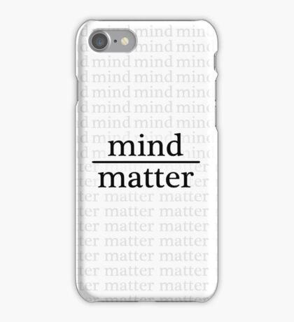Mind over Matter - WHITE iPhone Case/Skin