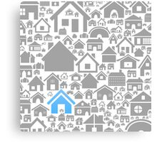 House a background Canvas Print