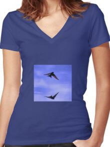 Welcome swallows Women's Fitted V-Neck T-Shirt