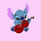 Stitch and a cello in pink by eleanor89