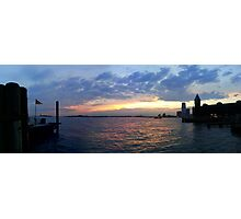 Sunset from Battery Park NYC Photographic Print