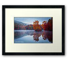 Cold Dawn - Hidden Lake PA Framed Print