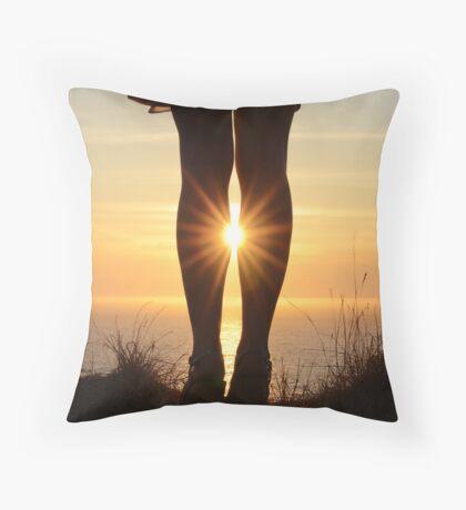 Leggy Flare Throw Pillow