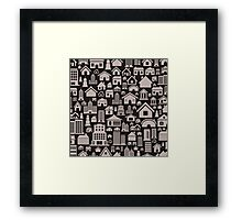 House a background4 Framed Print