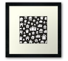 House a background5 Framed Print