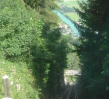 Interlaken funicular, Switzerland. (Sold in aid of Medway Queen restoration) Sticker