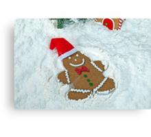 Gingerbread Snow Angel Canvas Print