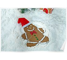 Gingerbread Snow Angel Poster