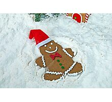 Gingerbread Snow Angel Photographic Print