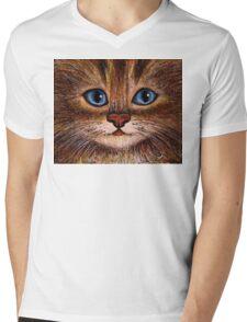Tabby Mens V-Neck T-Shirt