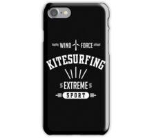 Wind Force Kitesurfing White Graphic iPhone Case/Skin