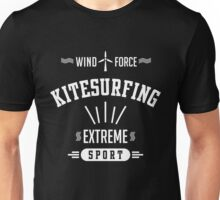Wind Force Kitesurfing White Graphic Unisex T-Shirt