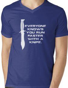 Running with Knives Mens V-Neck T-Shirt