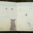 dog gulls and surfers by donnamalone
