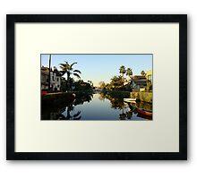 Little Venice, LA Framed Print