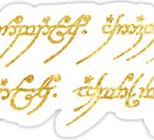 Lord of the Rings Inscription Sticker