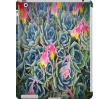 Blue And Pink Succulent Flowers iPad Case/Skin