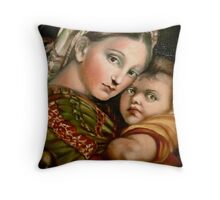 "Raphael's ""Madonna della Seggiola"" Throw Pillow"