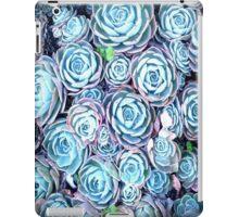 Blue Succulent Flowers iPad Case/Skin