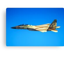 Israeli Air force (IAF) Fighter jet F-15I (Raam) in flight Canvas Print