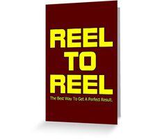 Reel To Reel Greeting Card