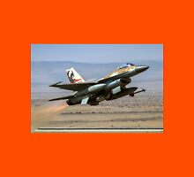 Israeli Air Force (IAF) F-16A (Netz) Fighter jet at takeoff  Unisex T-Shirt
