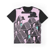 Pink city print Graphic T-Shirt