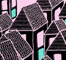 Pink city print Sticker